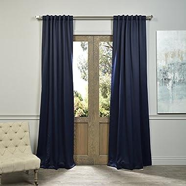 HPD HALF PRICE DRAPES Half Price Drapes BOCH-193810-108 Blackout Curtain, Navy Blue