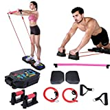 SHINYEVER Portable Home Gym, Muscle Build Workout Equipment for Men and Women, Exercise Equipment with Resistance Bands, Elastic Ropes and Pilates Bar, Fitness Equipment for Indoor Outdoor Travel