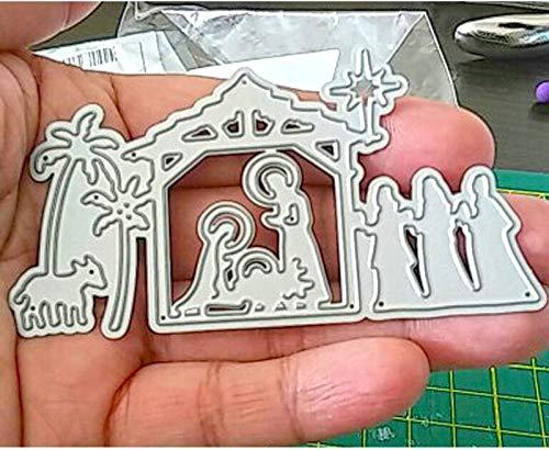 1PCS/Set Holy Nativity Scene Metal Cutting Dies Stencils for DIY Card Making Album Scrapbooking Craft Die Embossing Paper Cut Autumn Harvestdies-Cutting Dies Cut Metal Scrapbooking-Die Cut