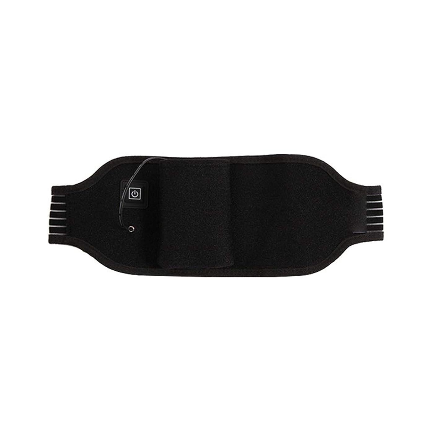 六月細心の独裁ポータブルけいれん月経治療の痛みを軽減するための加熱ウエストベルト温水戻るラップサポート調節可能なブレースラスティング 腰痛保護バンド (色 : ブラック, サイズ : FREE SIZE)