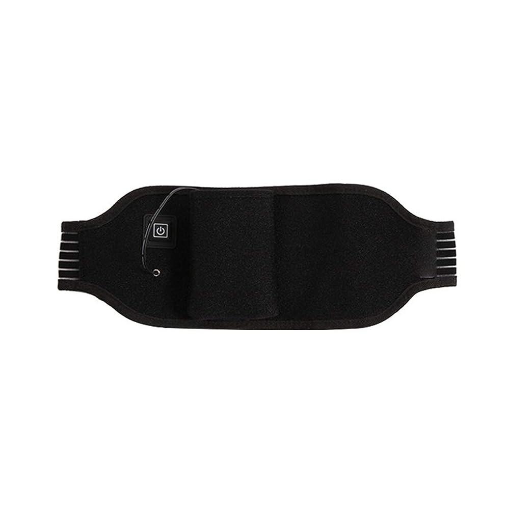 論理的にパテアプローチポータブルけいれん月経治療の痛みを軽減するための加熱ウエストベルト温水戻るラップサポート調節可能なブレースラスティング 腰痛保護バンド (色 : ブラック, サイズ : FREE SIZE)