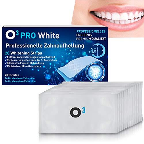O³ Zahnaufhellung Strips // 28 White Stripes // Teeth Whitening Streifen - Zähne weisser machen // Bleaching set – Bleichen // Zahnpflege Zahnweiß weiße Zähne
