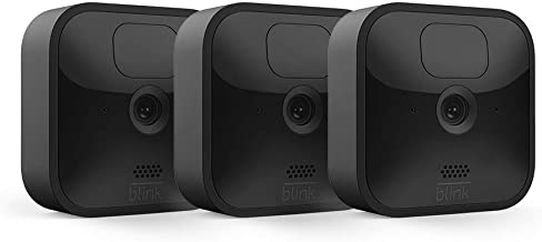 Blink Outdoor - wireless, weather-resistant HD security camera, two-year battery life, motion detection, set up in minutes – 3 camera kit