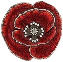 product image for Danforth - Remembrance Poppy Scatter Pin - Red - Pewter - 7/8 Inch - Made in USA