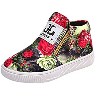 Baby Slippers Baby Booties Byste Toddler Boys Grils Kids Casual Floral Ankle Boots Children Zipper Letter Shoes Baby Star Pandent Soft Sole Flat Loafers Indoor&Outdoor Walking Autumn Flatform