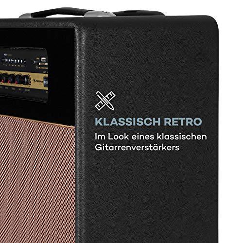 auna Streetstar Retro 30 - Mobile PA-Anlage, DJ- / Karaoke-Anlage, Bluetooth, 10