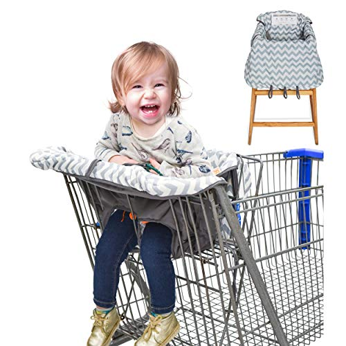 Baby Caboodle 2 in 1 Shopping Cart Cover and High Chair Cover for Toddler or...