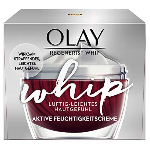 Olay Regenerist Whip Luftig-Leichte Feuchtigkeitscreme 50 ml – Straffende Wirkung, Sichtbare Reduzierung Von Falten Und Leichtes Hautgefühl