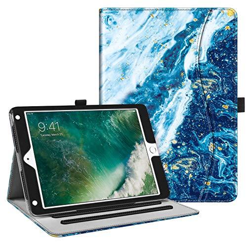 FINTIE Custodia per iPad 9.7 Pollici 2018 2017, iPad Air 2, iPad Air - [Multi-angli] Folio Pieghevole Cover Protettiva Case Auto Sveglia/Sonno (con Tasca per le Schede), Oceano Blu