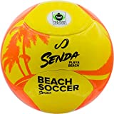 Senda Playa Playa balón de fútbol, Comercio Justo Certificado, Naranja/Amarillo, Color Naranja y Amarillo, tamaño Size 5 (Ages 13 & Up)