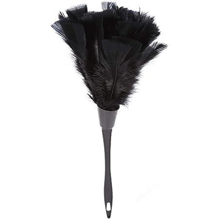 Plumero de limpieza 5 colores de plumas de pavo suave plumero cepillo con mango negro muebles para el hogar herramientas de limpieza del coche rosa rojo