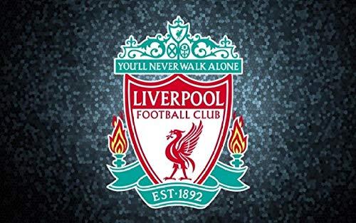 Lv5Panel Puzzles-Juego De Rompecabezas De Madera De 1000 Piezas Para Adultos Niños Puzzle Juguetes Decoración Del Hogar Paisaje Liverpool Logo Fútbol&Regalos De Cumpleanos