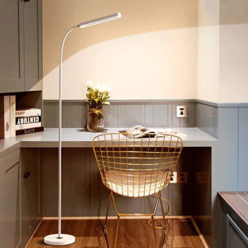 QFFL Lámpara de Pie Columpios de Manguera de Metal de Lámpara de Pie Simple LED Cuentas de Lámpara de Doble Dirección de Doble Fila de 360 Grados Adecuado para Lámpara de Lectura de Oficina