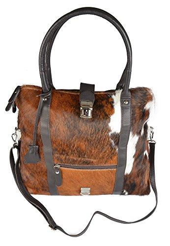 Große Damen Handtasche, Trachtentasche aus weichen Kalbsleder, Vorderseite aus echtem...