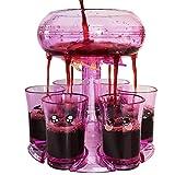 Shot Dispenser, Shot Glass Dispenser and Holder, Shot Dispenser for Liquor Bottles, Shot Pour with 6 Glasses Cup, Wine Dispenser for Cocktail Parties, Drinking