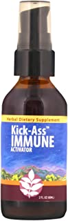 WishGarden Herbs - Kick-Ass Immune, Organic Herbal Immune Booster Promotes Healthy System Response and Resistance (2 Ounce Pump)