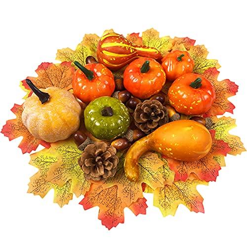 Juego de decoración de calabaza de Halloween, 50 unidades, otoño, mini calabaza,...