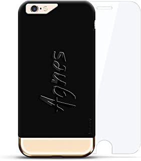Luxendary Designer, 3D Printed, Fashion, High End, Premium, 360 Degree Protecting Cell Phone Case for iPhone 6/6S Plus - Velvet Black & Gold Agnes, Hand-Written First Name