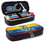 Bolígrafo y estuche de cuero Feliz Día de la Independencia Colombia Pequeños compartimentos