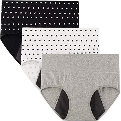 INNERSY Ladies Menstrual Pants Heavy Period Proof Underwear Postpartum...