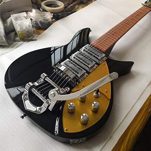 LOIKHGV E-Gitarre Griffbrett hat glänzende Farbe EIN kurzer Hals 5 Grad, 34 Zoll