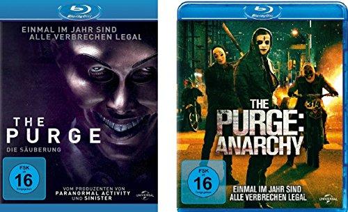 The Purge - Teil 1 + Teil 2 ( die Säuberung + Anarachy) im Set - Deutsche Originalware [2 Blu-rays]