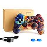 dainslef PS3 Controller Wireless Dualshock Remote/Gamepad Control for Sony Playstation 3 Bluetooth PS3 Sixaxis Joystick with Charging Cable (Galaxy PS3 Remote/PS3 Game)…
