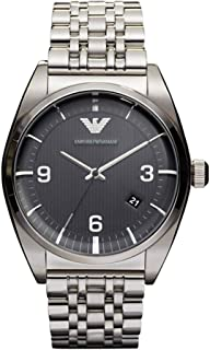 Emporio Armani Mens Quartz Watch, Analog Display and Stainless Steel Strap AR0369