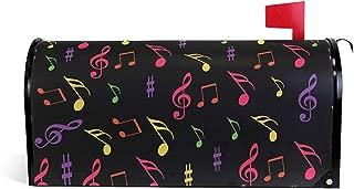 Notas coloridas de la música Patrón Imprimir Post Box Letter Cover Mailbox Wrap para Home Garden Yard Decor21 'X 18'