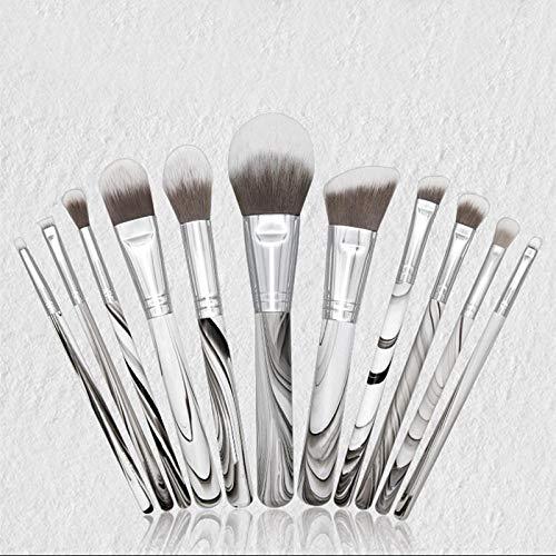 Maquillage Brush Set, 11 pièces de poignée en bois peinture blush professionnel fondation fard à paupières outils de beauté maquillage rouge à lèvres