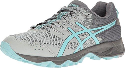 ASICS Women's Gel-Sonoma 3 Trail Runner, Mid Grey/Aqua Splash/Carbon, 8 M US