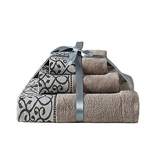 Juego de toallas de baño de algodón suave, transpirable, adecuadas para viajeros familiares, gimnasio, hotel de 3 piezas.