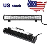 Primeprolight 1 Black 20' 126W CREE LED Work Light BAR SPOT...