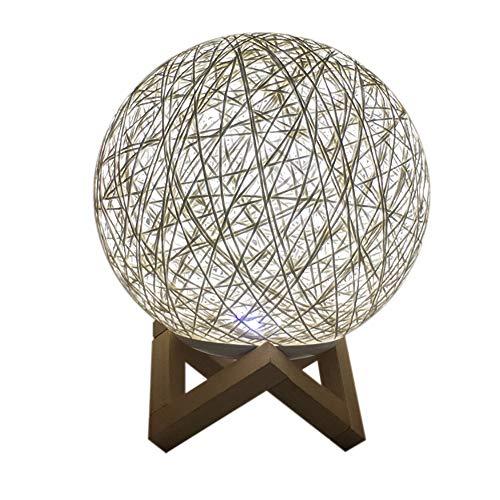 TianranRT Lumière Led Moon Night Light Moonlight USB Charging Table Desk Moon Lamp 3D Led Rotin(A)