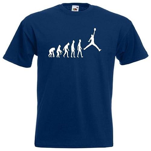 3b98c5875df687 Loopyparrot Evolution of man basketball T-shirt 86