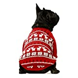 Fitwarm Dog Christmas Sweater Puppy Knitwear Snowflake Pet Winter Clothes Doggie Outifts Pullovers Red Medium