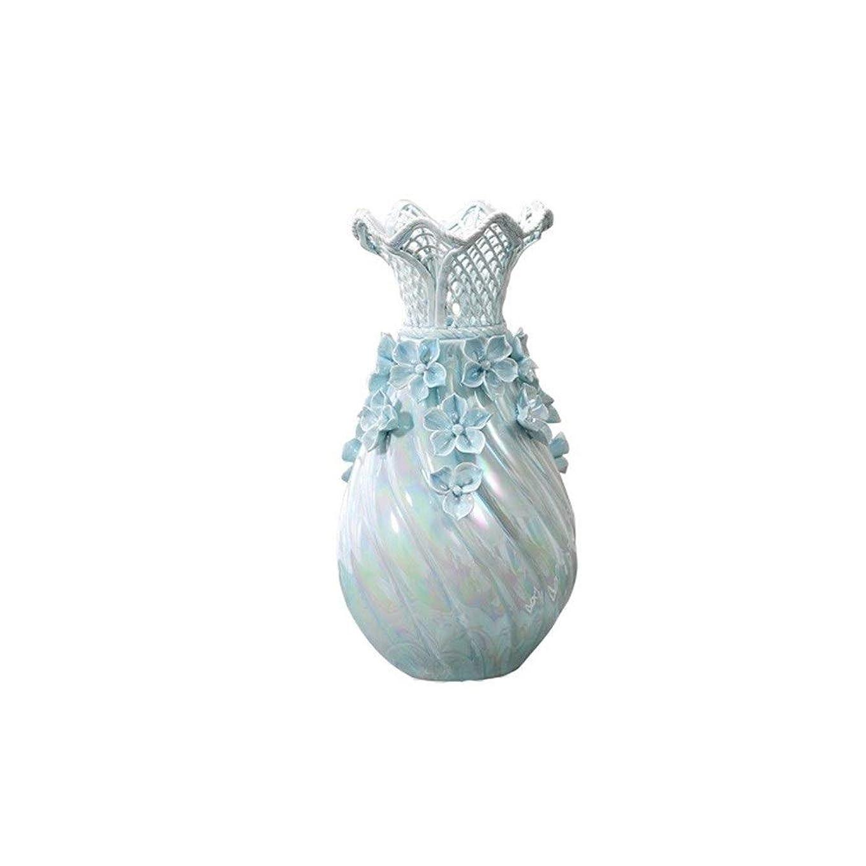 結紮ポーチ免除するZGSH エレガントな花瓶花瓶、クリエイティブ花瓶、セラミック花瓶、ミニマリストスタイルホームオフィス装飾花瓶。(青) (Color : Blue)