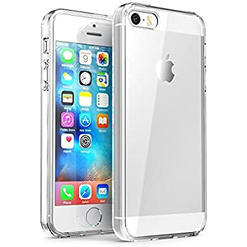iPhone SE Case Splaks [Crystal Shell] Extra Shock-Absorb Clear Back Panel Extreme Lightweight Transparent Soft Flexible Silicone Rubber Anti-Scratch Protective Case for iPhone SE/5/5S