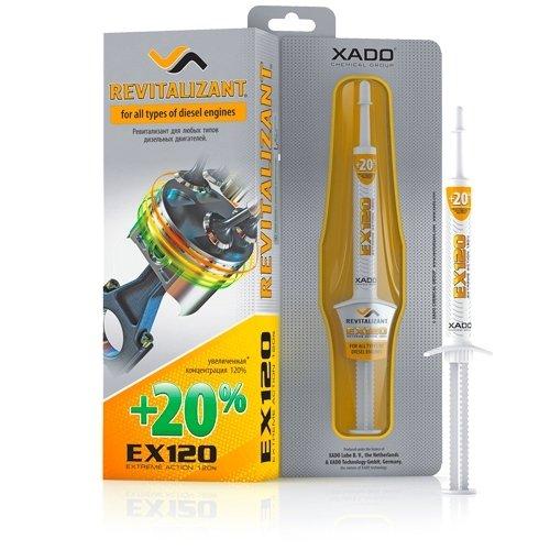Aditivo para aceite del motor EX120 de XADO, con Revitalizant para motores diésel, protección para prevenir las reparaciones y el desgaste