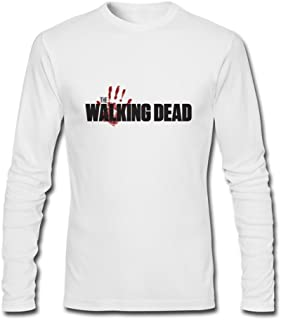 Tommery Men's Tumblr Static The Walking Dead Logo Long-Sleeve Cotton T-Shirt XXXL