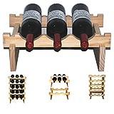 Yino - Botellero de madera con estantes apilables, madera, 40 cm
