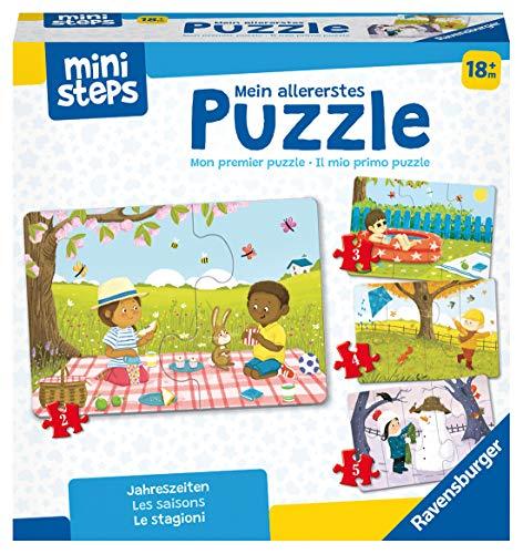 Ravensburger ministeps 4168 Mein allererstes Puzzle: Jahreszeiten - 4 erste Puzzles mit 2-5 Teilen, Spielzeug ab 18 Monate