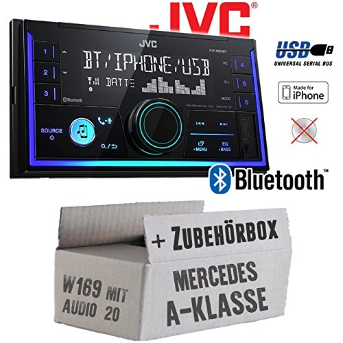 Autoradio Radio JVC KW-X830BT - Bluetooth MP3 USB - Einbauzubehör - Einbause für Mercedes A-Klasse JUST SOUND best choice for caraudio