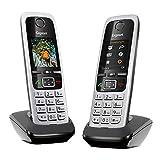 Gigaset C430HX Duo - 2 DECT-Telefone schnurlos für Router - Fritzbox, Speedport kompatibel - 1,8 Zoll Farbdisplay - Direktwahltasten, schwarz-silber