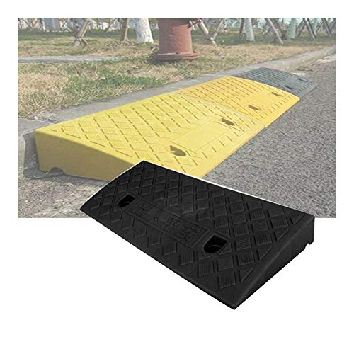 Baiying Travel Ramp Curb Ramp Threshold Wheelchair Car Pedestrian Stampede Can Carry PVC Waterproof Bearing Strong, 5 Sizes,3 Colors (Color : Black, Size : 50X27X13CM)