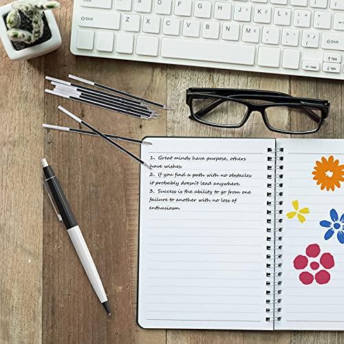 Sepamoon Retractable Pen Refills 0.7mm Ballpoint Pen Refills Replacement Gel Ink Refills Blue and Black Ink Refills for Retractable Pens, Office School Supplies (60) Photo #6