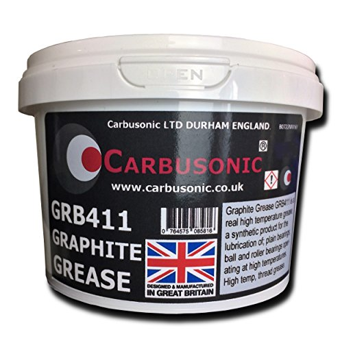 Carbusonic Graphite grease fully synthetic high temperature lubricating grease hammer, slide, shunt and wire rope waterproof grease 500 gm