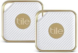 Tile Style Gold×2 Item Tracker・タイルスタイル GPS トラッカー 2個セット・防水〔並行輸入品〕