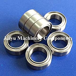 Fevas 50 PCS SFR1810ZZ Flanged Bearings 5/16 x 1/2 x 5/32 Inch Stainless Steel Flange Ball Bearings DDRIF-8516ZZ