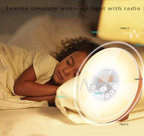 Mosche Sunrise Alarm Clock Wooden